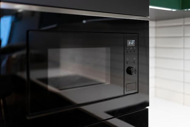 Microwave in modern kitchen