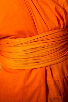 Mid section view of a monk, wat sri soda, chiang mai, thailand