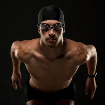 Mid shot athlete running