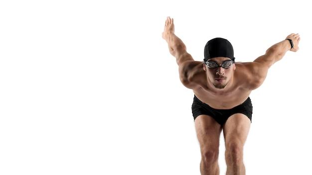 Пловец со средним выстрелом