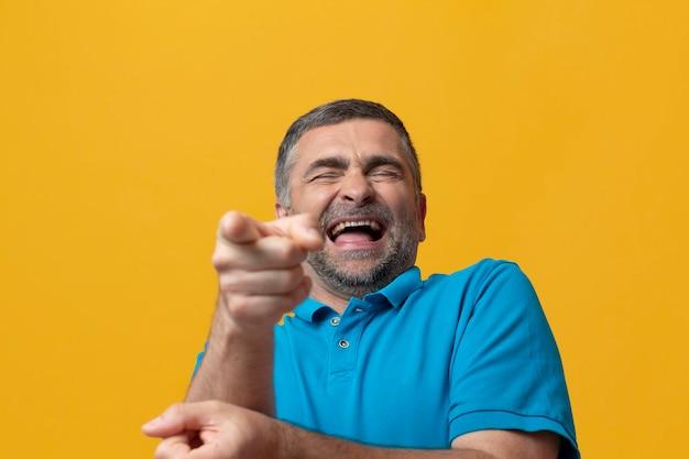 Middle aged man celebrating life