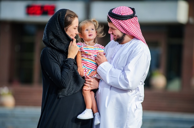 Middle eastern family outdoor.arabic family