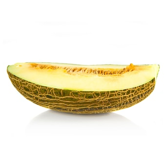Middle melon isolated over white background