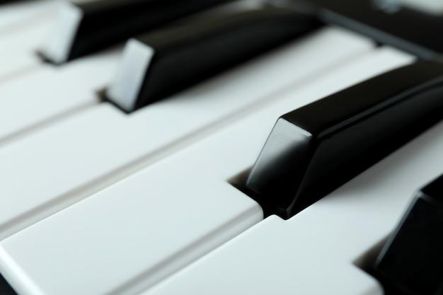 Midi keyboard, close up and selective focus