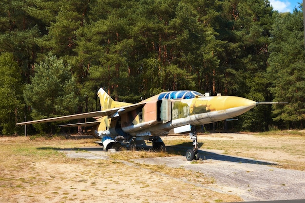 Mig 23ub, an old russian airplaine in finowfurt aviation museum, germany
