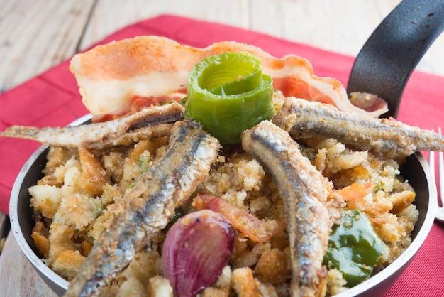 Migas traditional food on spain