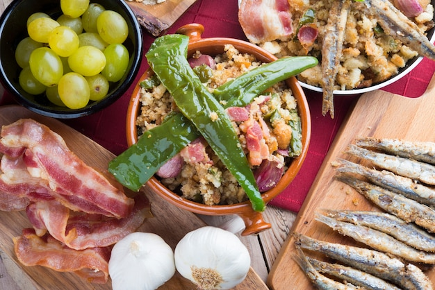 Migas traditional food on spain