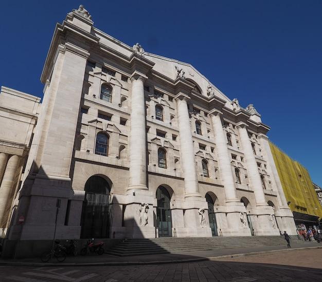 Milan stock exchange in milan