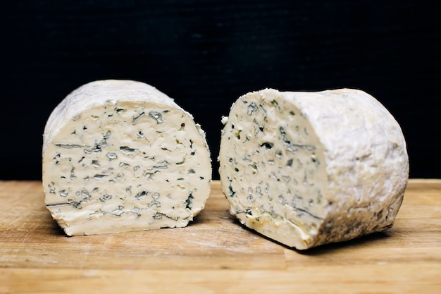 Mild blue auvergne cheese fourme d' ambert from france