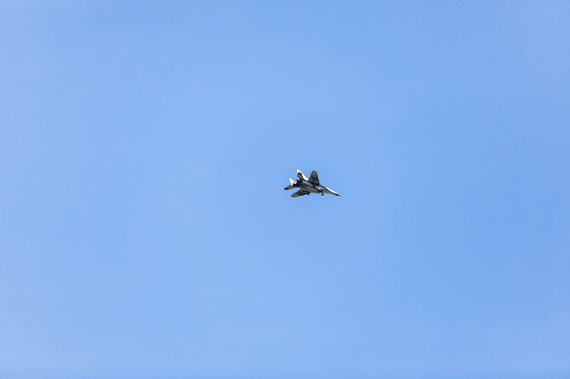 Military airplane flying.