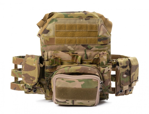Military body armor isolated