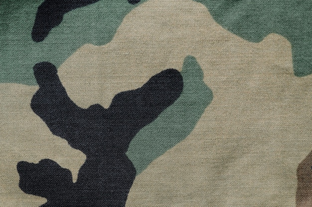 Military camouflage fabric textured background