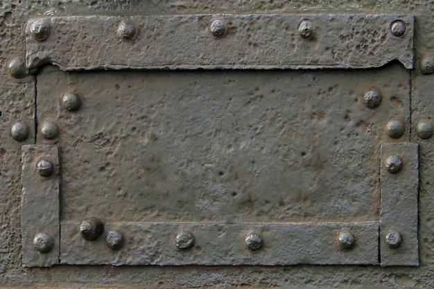Военная промышленность стальной металлический корпус, заклепки и болты армейский танк бронетранспортер., день защитника отечества, концепция дня победы