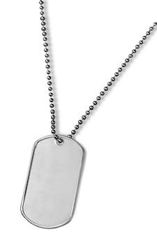 흰색 절연 군사 금속 식별 태그