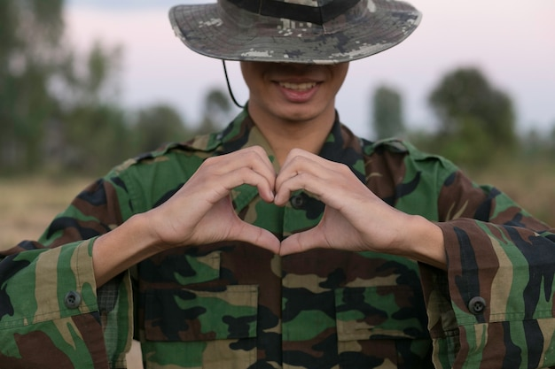 Military symbol of love