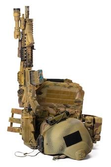 白で隔離される軍事グッズエアガンライフル