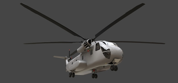 Military transport or rescue helicopter