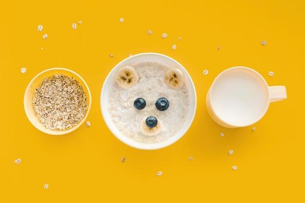 ミルクとオート麦のフレーク