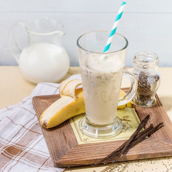 우유 바나나 스무디