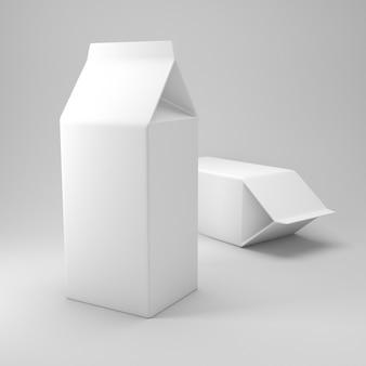 Молочный ящик макета