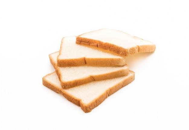 Milk bread on white