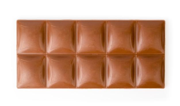 分離されたミルクチョコレートバー
