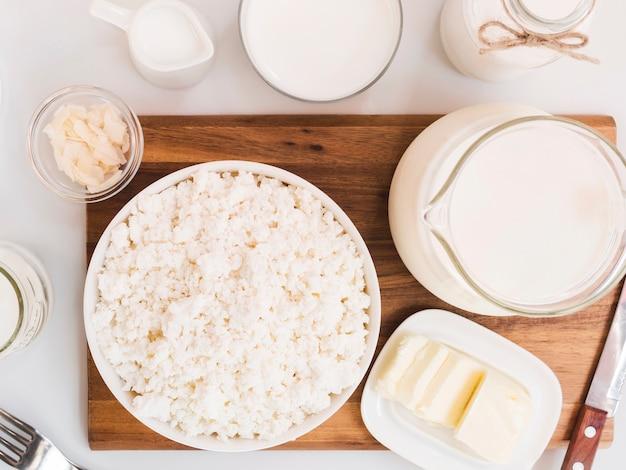 우유, 코티지 치즈 및 유제품