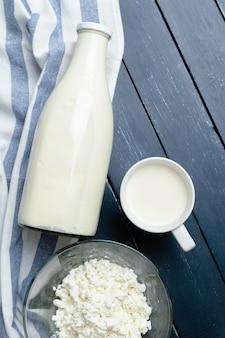 Milk,  cottage cheese