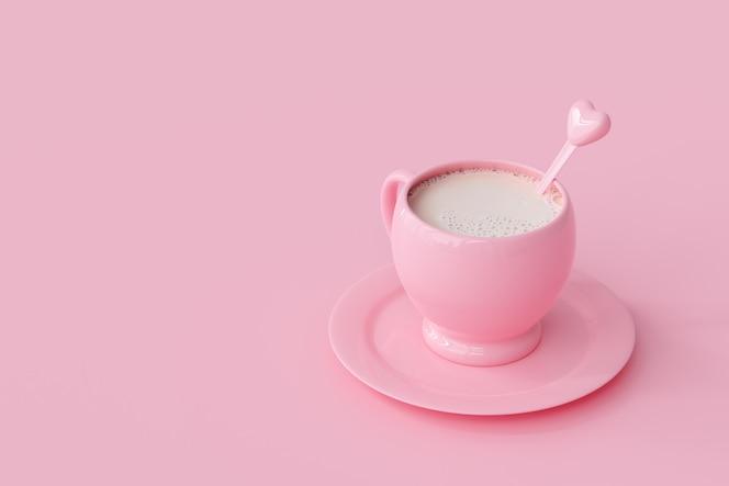 Milk pink cup