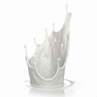 Milk splash is crown shape