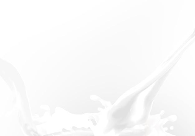흰 벽에 우유 스플래시