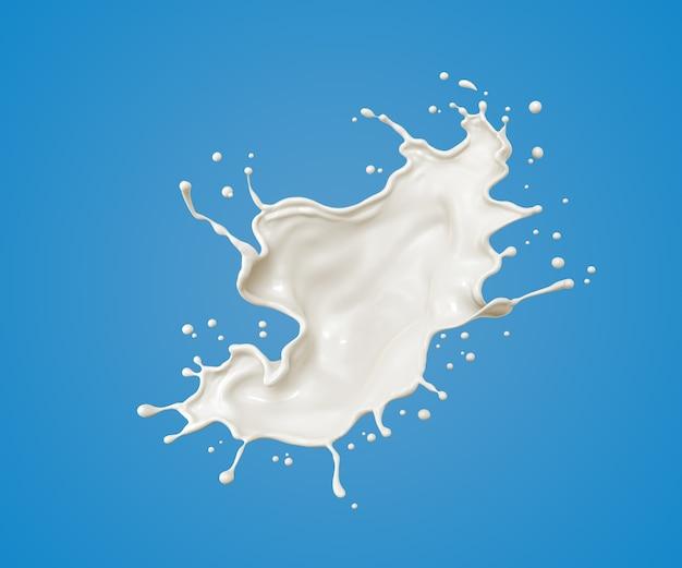 Milk splash and pouring