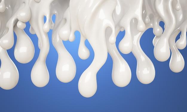 牛乳のスプラッシュスパイラル。