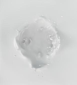 Milk or yogurt splash