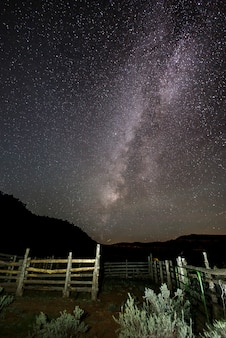 Milky way and beautiful starry in the dark night