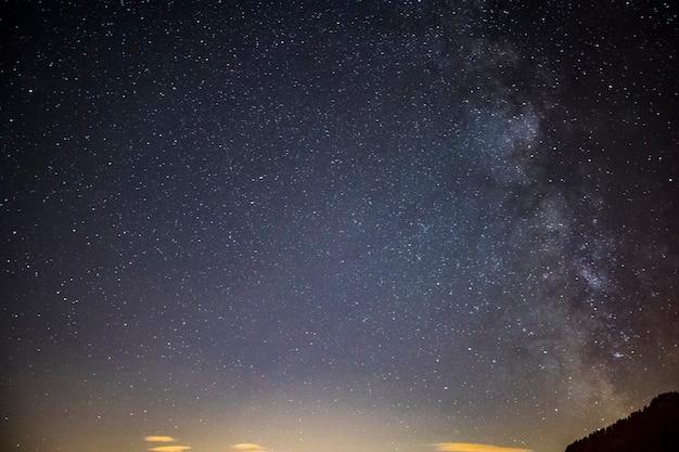 Milky way in dolomites, alps, italy. europe