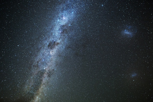 Milky way from mt cook in new zealand