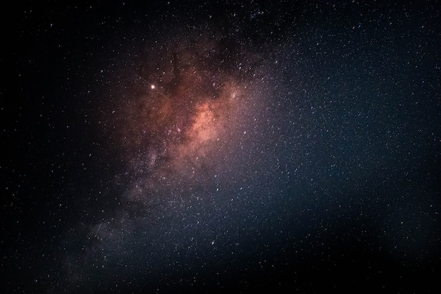Milky way full of stars in space