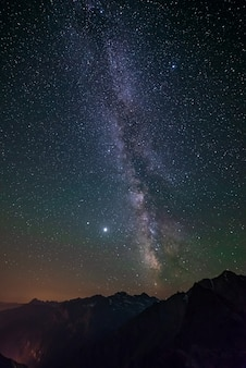 The milky way galaxy and the stars in the night sky