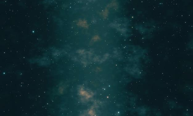 Галактика млечный путь с яркими звездами