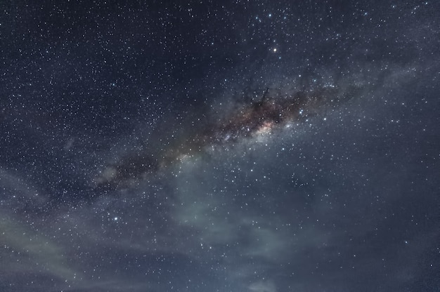 Milky way galaxy with stars and space dust in the cosmos