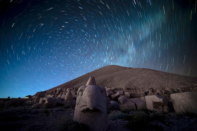 Milky way above a nemrut mountain. adiyaman - turkey