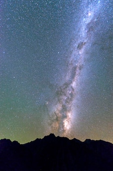 Milky way rising above the mountain