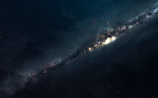 Млечный путь. звездные поля бесконечного космоса. элементы этого изображения, предоставленные наса