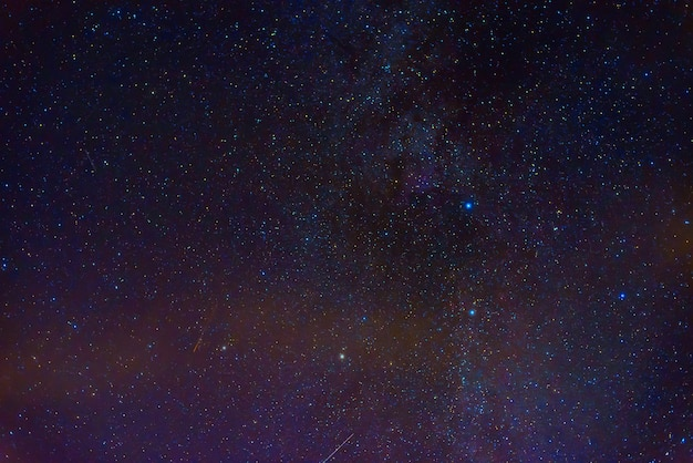 Milky way in starry sky with nebulae and galaxies. background with stars and space