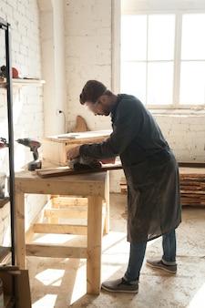 Millennial man choosing skilled labor trades