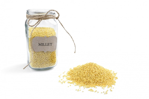 Millet isolated on white background.