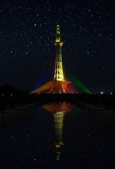 ミナール・パキスタンの夜