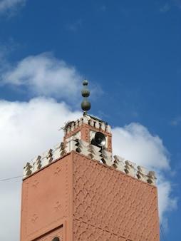 マラケシュ、モロッコのミナレット