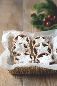 Mince pies - traditional christmas food